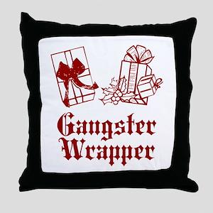 Gangster Wrapper Throw Pillow