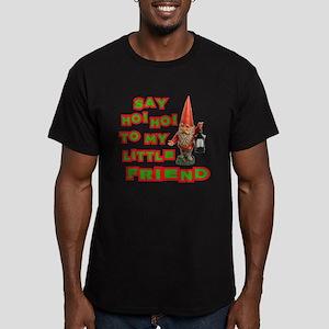 Say Ho Ho to Santa Men's Fitted T-Shirt (dark)