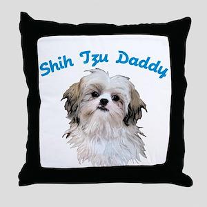 Shih Tzu Daddy Throw Pillow