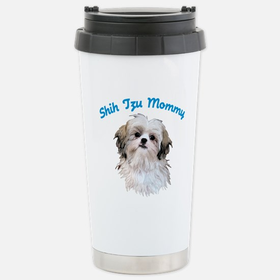 Shih Tzu Mommy Stainless Steel Travel Mug