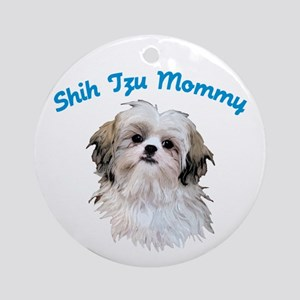 Shih Tzu Mommy Ornament (Round)
