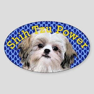 Shih Tzu Power Sticker (Oval)