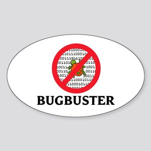 Bug Buster Oval Sticker