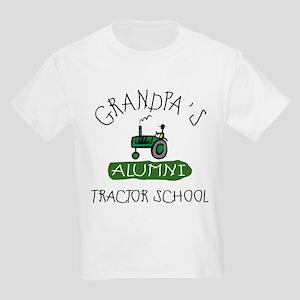 Grandpa's Tractor School Kids Light T-Shirt