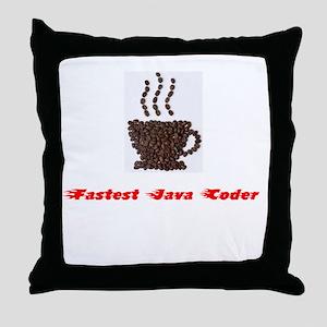 Fastest Java Coder Throw Pillow
