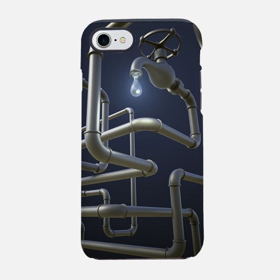 Water Pipeline Maze iPhone 7 Tough Case