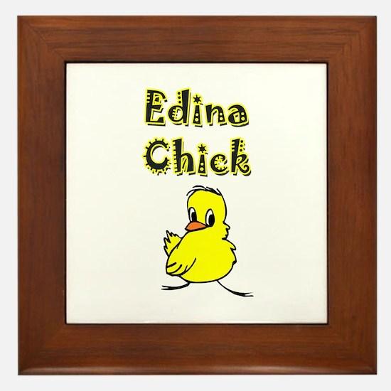 Edina Chick Framed Tile