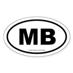 SURFCITY EURO MB Oval Sticker