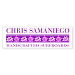 Samaniego Surfboards Bumper Sticker