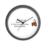 Return to the Farm Wall Clock