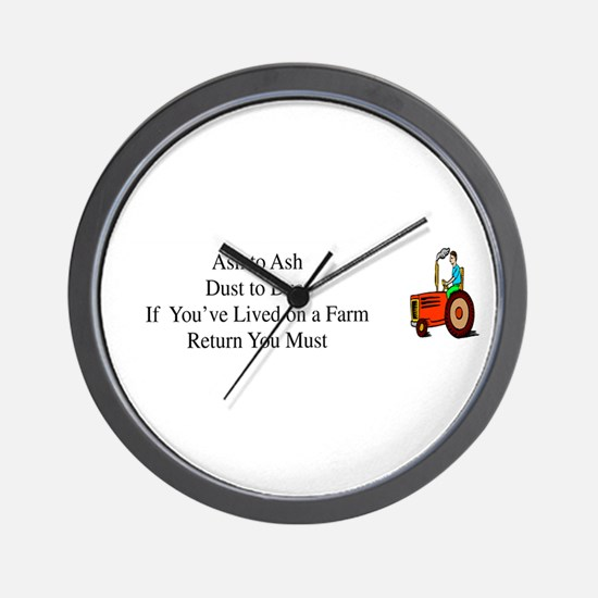 Return to the Farm Wall Clock