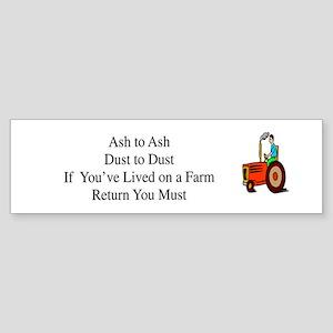 Return to the Farm Bumper Sticker