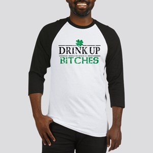 Drink Up Bitches St Patricks Day Baseball Jersey