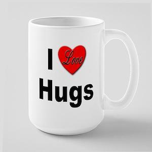I Love Hugs Large Mug
