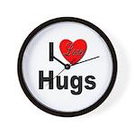 I Love Hugs Wall Clock