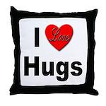 I Love Hugs Throw Pillow