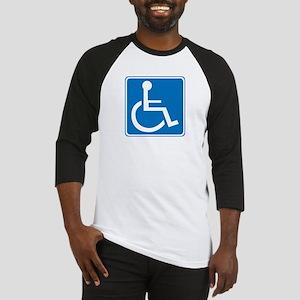 Handicapped Sign Baseball Jersey