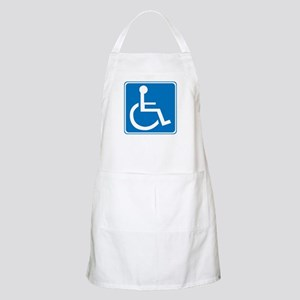 Handicapped Sign BBQ Apron