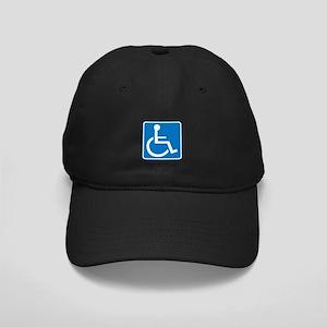 Handicapped Sign Black Cap