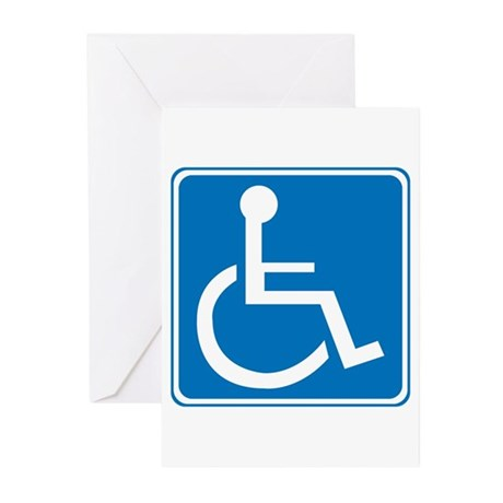 Handicapped Sign Greeting Cards (Pk of 20)
