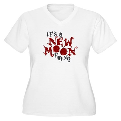 A New Moon Thing Women's Plus Size V-Neck T-Shirt