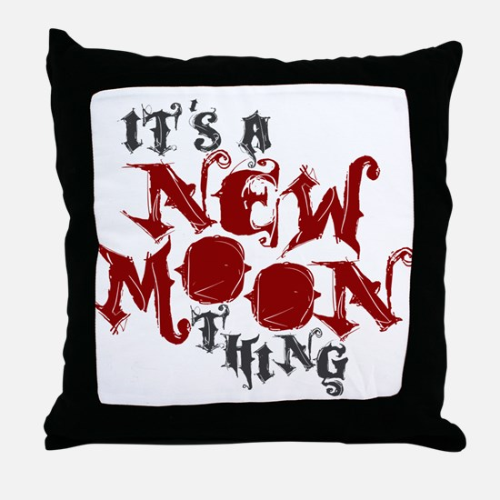 A New Moon Thing Throw Pillow