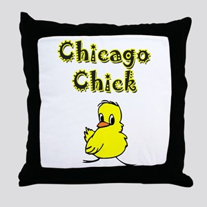 Chicago Chick Throw Pillow