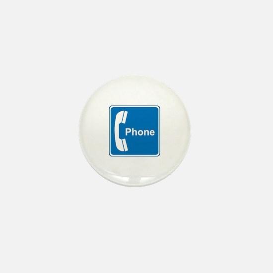 Phone Sign Mini Button