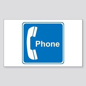 Phone Sign Rectangle Sticker