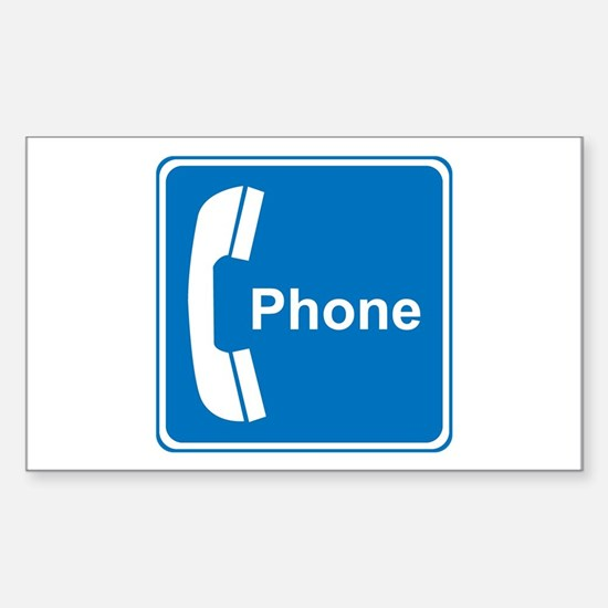 Phone Sign Rectangle Decal