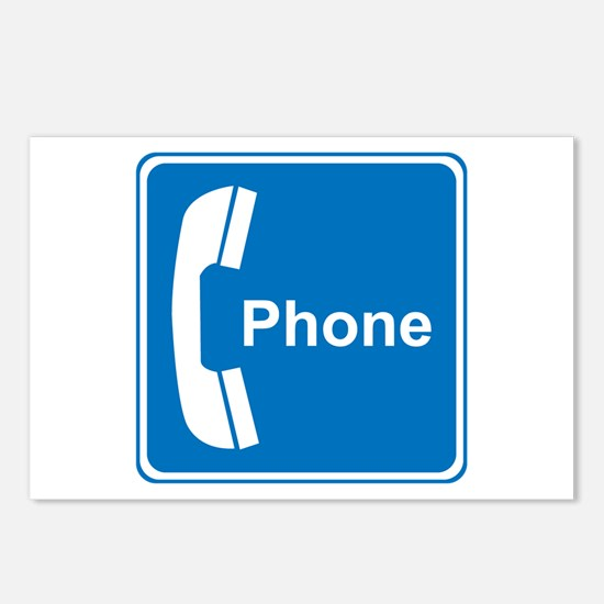 Phone Sign Postcards (Package of 8)