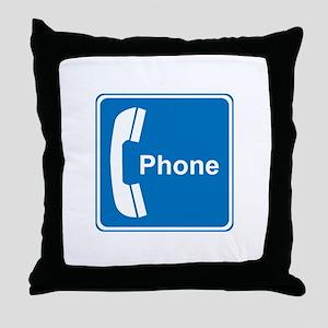 Phone Sign Throw Pillow