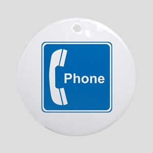 Phone Sign Ornament (Round)