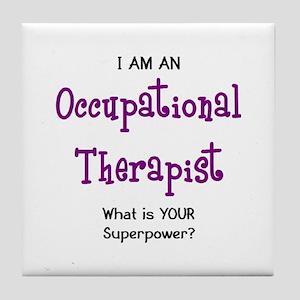 occupational therapist Tile Coaster