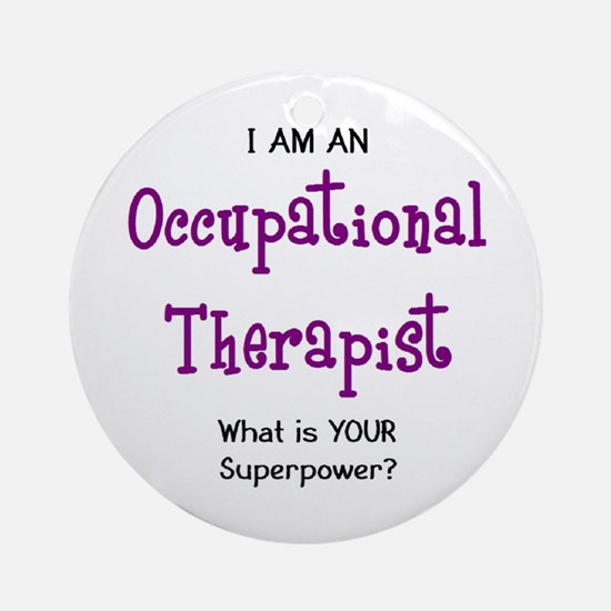occupational therapist Round Ornament