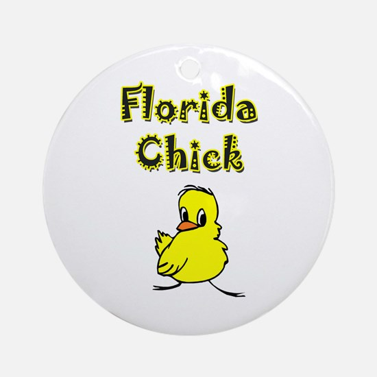 Florida Chick Ornament (Round)