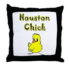 Houston Chick Throw Pillow