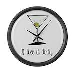 dirty martini Large Wall Clock