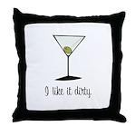 dirty martini Throw Pillow