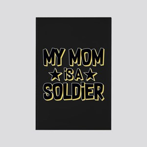 U.S. Army My Mom Is A Soldier Rectangle Magnet