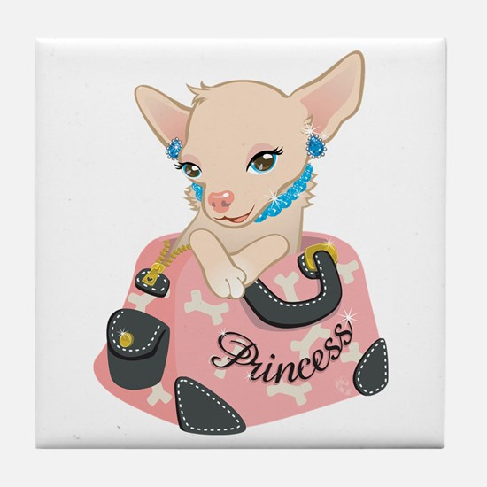 Princess-huahua Tile Coaster