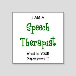 "speech therapist Square Sticker 3"" x 3"""