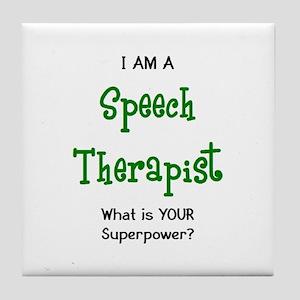 speech therapist Tile Coaster