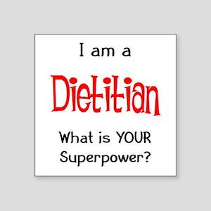 """dietitian Square Sticker 3"""" x 3"""""""