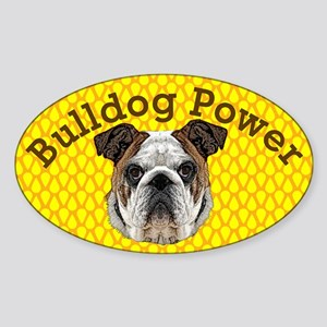 Bulldog Power Sticker (Oval)