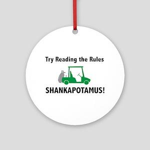 Try Reading the Rules Shankapotamus - Golf Tag