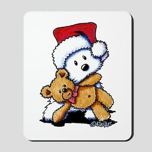 Christmas Teddy Bear Westie Mousepad