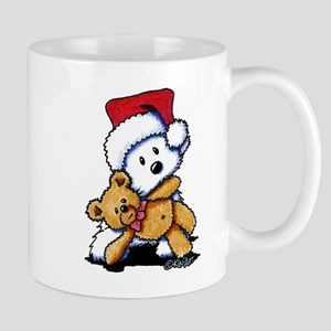 Christmas Teddy Bear Westie Mug
