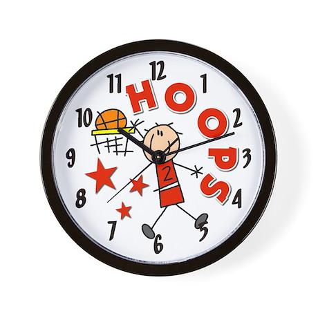 Hoops Basketball Wall Clock