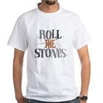 Roll The Stones White T-Shirt